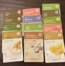THE FACE SHOP Real Nature Mask Sheet 13Pcs : Aloe, Green Tea, etc (USA SELLER)
