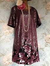 bnwt new look inspire bead 20s deco sequin gatsby party dress Top tunic 26
