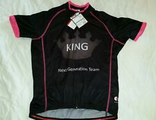 Tamai Long sleeve cycling jersey bike wear KING Team Women SZ XL PINK BLACK..NWT