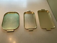 Vintage Hostess Trolley Trays x 3 Handled Retro