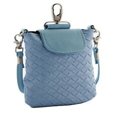 Woven Leather Crossbody Blue Case Pouch Purse for iPhone4/5 Samsung Galaxy S5 S8