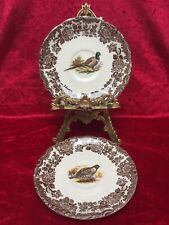 Pair of Royal Worcester PALISSY GAME SERIES Pheasant/Quail 5 1/4' Coffee Saucers