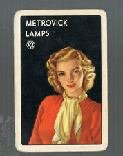 Swap Playing Cards 1 VINT  METROVICK  LAMPS  RETRO  LADY  ADVERT  G43