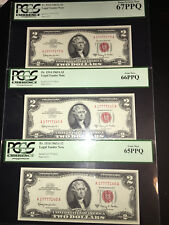 1963A $2 Fancy Serial Number TRIO Lucky SEVENS 7777 Fr 1514 Legal Tender Notes!
