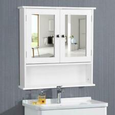 Wall Mount Bathroom Storage Cabinet Kitchen Cupboard Organizer W/ Mirror Doors