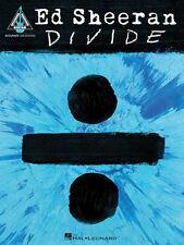 Ed Sheeran: ÷ (dividir) Guitarra ficha Libro Guitarra ficha Partituras Album Cancionero