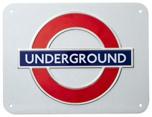 London Underground 'Underground', Medium Metal Sign 210mm x 160mm (gwc)