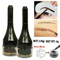 3D Eyebrow Cream Gel Tint Pen Hair Fiber Enhancer Eyebrow Extension With Brush