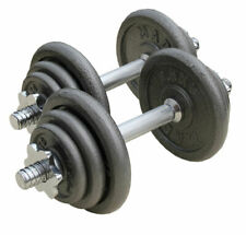 Coppia Manubri Dischi Componibili 10Kg Pesi Palestra Fitness Bodybuilding dfh