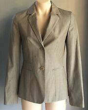 Smart COUNTRY ROAD Light Brown/Khaki Pinstripe Tailored Jacket Size 6