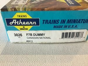 """CANADIAN NATIONAL F7B, DUMMY LOCOMOTIVE  NEW  , BOXED, """"ATHEARN"""", Part No:- 3026"""