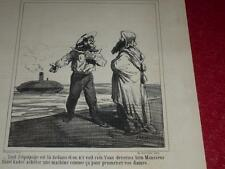 CHAM / LITOGRAFÍA ORIGINAL CHARIVARI 1865 / NOTICIAS 331 ABD EL-KADER