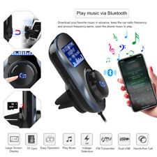 Bluetooth Car Kit FM Transmitter MP3 Dual USB 4.1A Player Micro SD TF Music Play