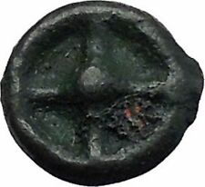 ISTROS Thrace 500BC Wheel Money Authentic Ancient Greek Coin BLACK SEA i48206