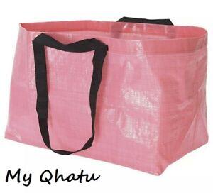 IKEA SLUKIS Frakta Reusable Shopping Bag Large Pink Laundry Tote New