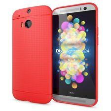 NALIA Handy Hülle für HTC One M8 M8S, Slim Mesh case cover TPU Schutzhülle