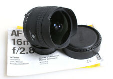 Nikon AF Fisheye-Nikkor 16mm F2.8 Lens with Manual