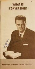 Rev. Billy Graham (d.) Signed 1963 Gospel Pamphlet - JSA COA - VERY RARE!!