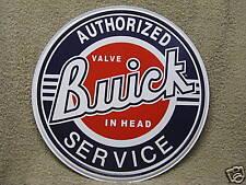 Buick Parts Service Tin Metal Adverting Sign Car Auto Truck