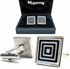 New Men's Cufflinks Cuff Link Square Mother of Pearl Wedding Formal Prom #06