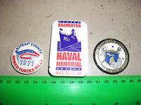 Lot of 3  USA Navy Kitsap Vintage Badges 1970s