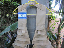 ISRAEL IDF ARMY - KFIR BRIGADE BATTLE FIELD TACTICAL VEST W/ ISRAEL FLAG ! NEW.