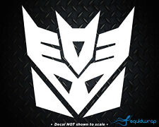 "Transformers Decepticon Car Decal / Laptop Sticker - WHITE 3.5"""