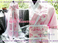 China Kimono Pink Chffion Dress Cosplay Custom Hand Made HanFu Floral