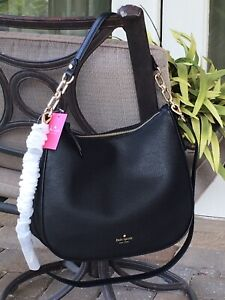 KATE SPADE MULBERRY STREET VIVIAN SHOULDER BAG BLACK LEATHER SLOUCHY PURSE HOBO