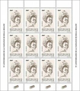 Togo Definitives Stamps 2020 MNH Bella Bellow Singers Music Reissue 500F 12v M/S