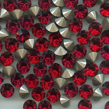 1028 SS39 RU*** 8 STRASS SWAROVSKI FOND CONIQUE SS39(8,3mm)  RUBY