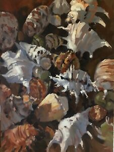 'THE SHELL COLLECTION' Original Oil Painting by Award Winning Artist ROS PSAKIS