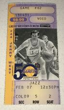 🔥2/7/1999🎫Game Used Ticket Stub KOBE SHAQ Stockton Malone Jazz vs Lakers @ GWF
