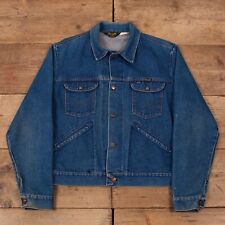 "Mens Vintage Wrangler 70s Customised Denim Trucker Jacket USA Large 44"" R15988"