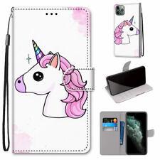 Cute Unicorn Smiple Hot Flip Antislip Wallet Stand Case Cover For Various Phone