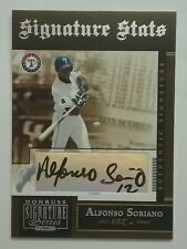Alfonso Soriano 2005 Donruss Signature Series on Card Autograph #SS-4