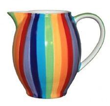 Windhorse ceramica Caraffa Rainbow a Righe Grandi D'Acqua Latte Brocca Caraffa 900ml NUOVO
