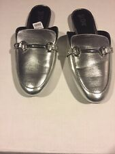 Brash Summer slippers half shoe flat bottom sandals slippers New w box Silver 11