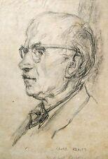 Wolfgang von Websky 1895-1992 Wangen / Porträt Zeichnung / Willibald Köhler 1953