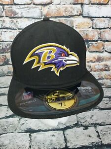 NFL Baltimore Ravens Embroidered Onfield  59 Fifty Fitted Hat 7 1/8