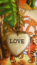 antique bronze heart necklace pocket watch chain vintage style locket
