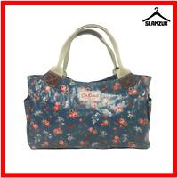Cath Kidston Oilcloth Navy Blue Floral Birds Handbag Bag Everyday Bag Tote Bag