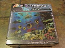 Aquarium ~ 500 Pc.~ 3D Lenticular Puzzle From Grafix ~ New, Sealed