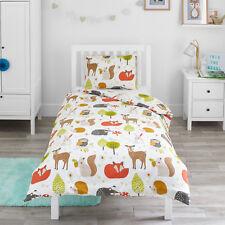 Bloomsbury Mill Woodland Animals Kids Bedding Set Junior Toddler Cot Bed Duvet C