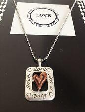 """LOVE"" Inspirational Romantic Statement CHARM Pendant NECKLACE"
