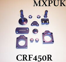 CRF450 2010 BLING KIT MXPUK BLUE ANODIZED ALLOY PARTS PACK 2009 CR450F (628)