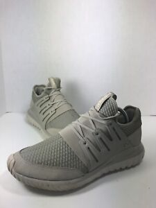 adidas Tubular Radial Gray Athletic Shoes Bb2397 Size 10