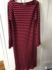 MONKI Striped Midi Dress Size M