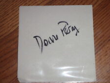DOANNE PERRY SIGNED AUTOGRAPH NAPKIN JETHRO TULL DRUMMER