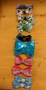 12 Hair Slide Bows Various Styles And Patterns